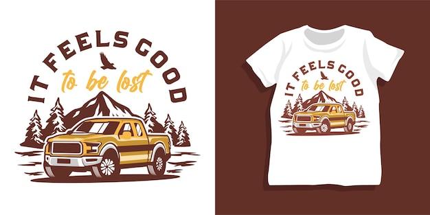 Design tshirt per auto fuoristrada e montagna