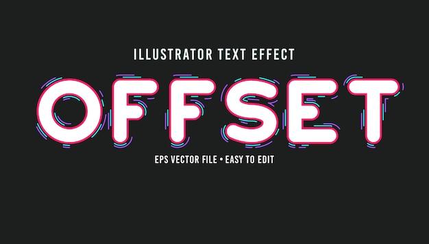 Effetto testo modificabile stile testo vettoriale eps eps