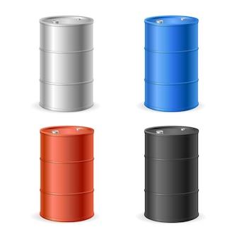 Collezione di barili di petrolio.