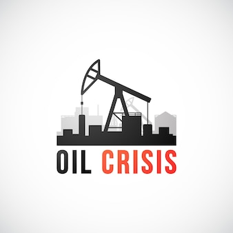 Illustrazione del concetto di vettore di crisi petrolifera
