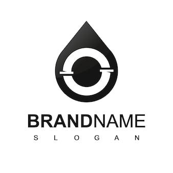 Modello di logo della società di trivellazione petrolifera