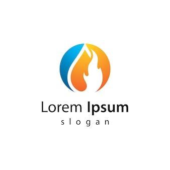 Progettazione dell'illustrazione delle immagini del logo del petrolio e del gas