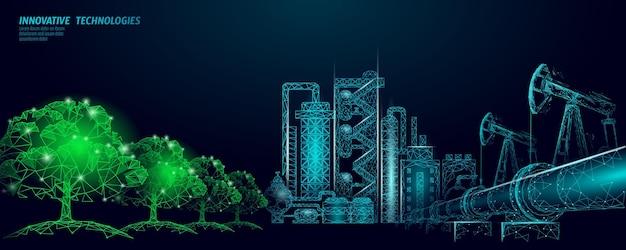 Concetto di problema di inquinamento da petrolio petrolio gas petrolio disastro ambientale gasdotto raffineria complesso ind ...