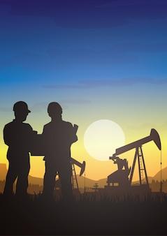 L'industria della piattaforma petrolifera profila il fondo.