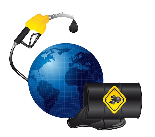 Fuoriuscita di petrolio su pianeta isolato