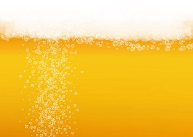 Sfondo dell'oktoberfest. schiuma di birra. spruzzata di birra artigianale. Vettore Premium