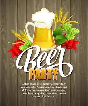 Sfondo dell'oktoberfest con birra. modello di manifesto. illustrazione vettoriale eps 10