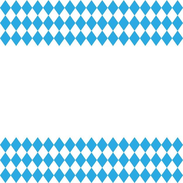 Oktoberfest e modello di bandiera bavarese. vettore