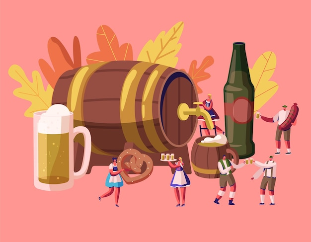 Oktoberfest concept. cartoon illustrazione piatta