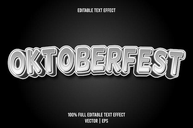 Effetto di testo modificabile oktoberfest 3 dimensioni in rilievo in stile cartone animato