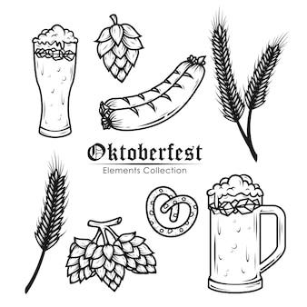 Collezione di elementi dell'oktoberfest
