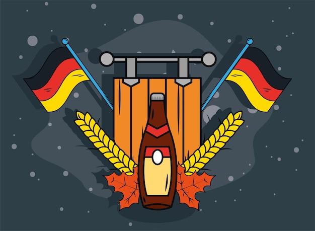 Festa delle bandiere della germania dell'oktoberfest