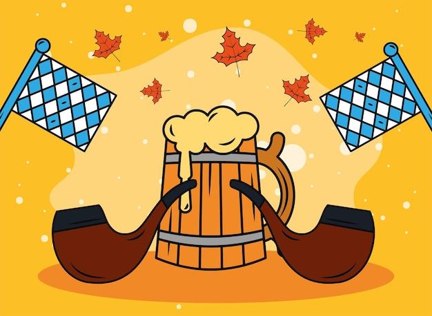 Barattolo e pipe dell'oktoberfest