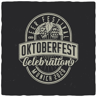 Etichetta oktoberfest