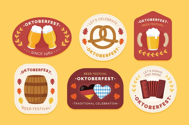 Collezione di etichette dell'oktoberfest