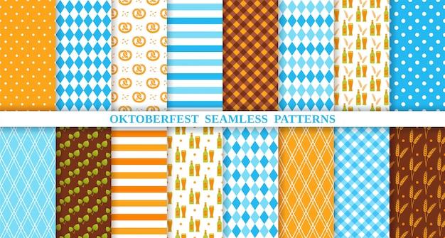 Oktoberfest seamless pattern.