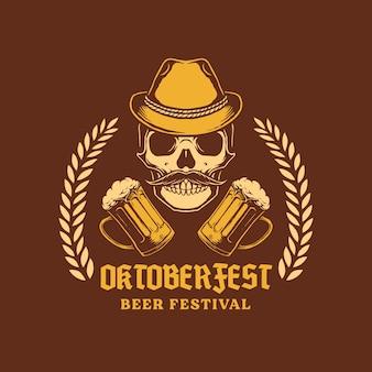 Design del cranio più oktoberfest