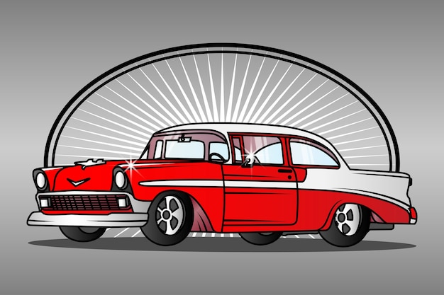 Vecchia auto classica di una muscle car americana.