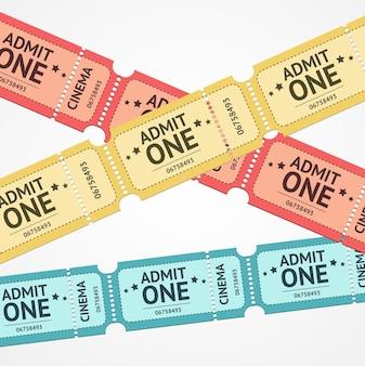 Vecchi biglietti colorati