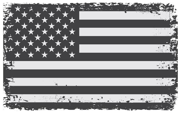 Vecchia bandiera americana del grunge