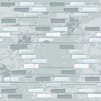 Vecchia struttura del muro di mattoni leggeri senza soluzione di continuità. mattone senza cuciture delle pietre del modello.