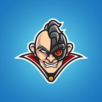 Vecchio logo mascotte cyborg