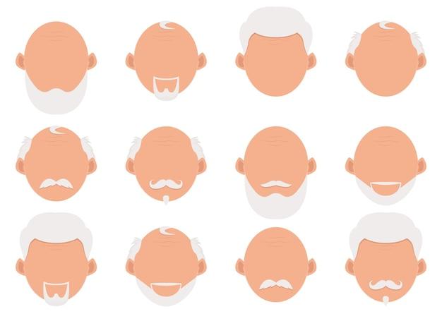 Illustrazione di disegno dell'uomo anziano isolato