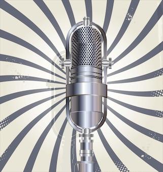 Vecchio sfondo del microfono retrò