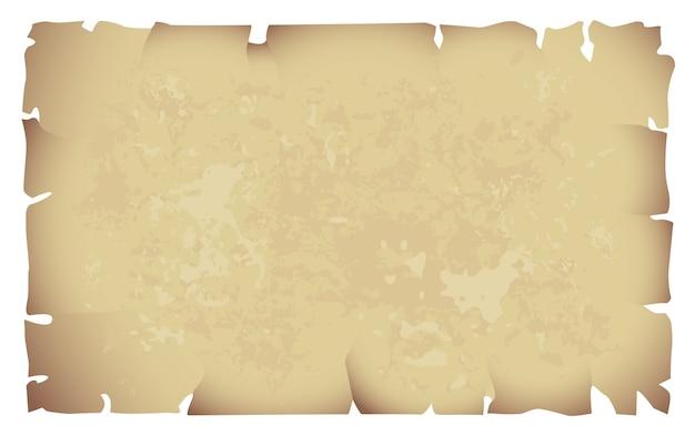 Vecchia carta isolata su bianco
