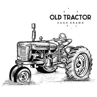 Vecchio trattore arrugginito