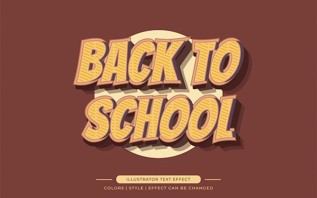 Effetti di testo del fumetto della vecchia scuola in stile vintage