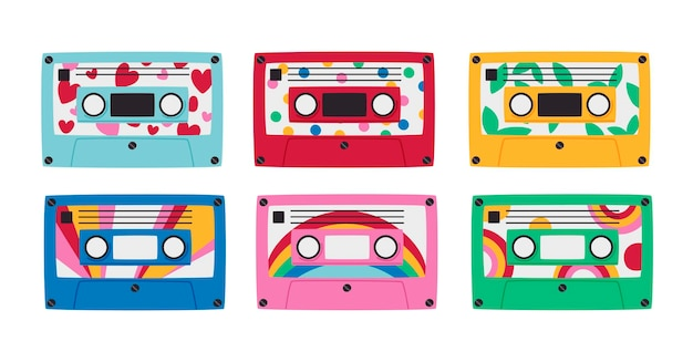 Set di cassette della vecchia scuola