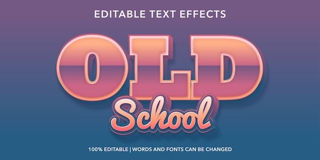 Effetto testo modificabile vecchia scuola