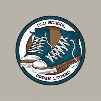 Illustrazione di scarpe vecchia scuola