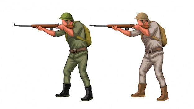 Set di vecchi soldati