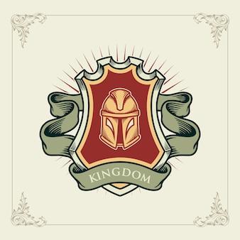 Elmo antico guerriero vintage o romano guerriero design spartano