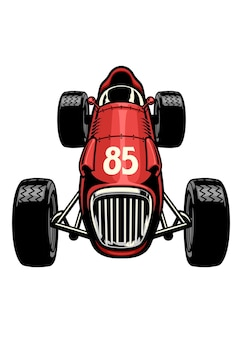 Vecchia formula automobilistica da corsa d'epoca