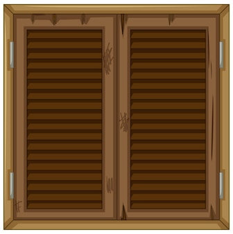 Vecchia finestra in legno