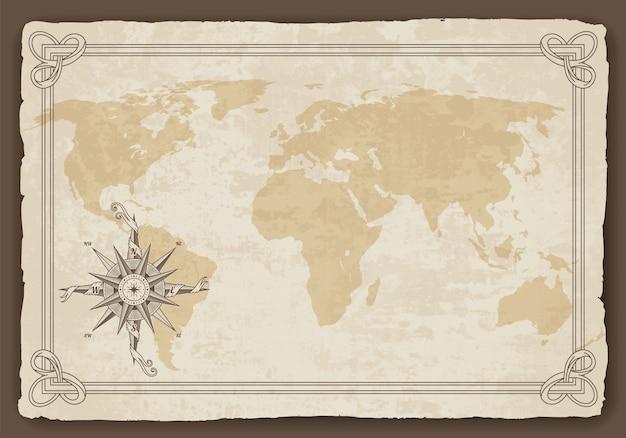Vecchia mappa del mondo