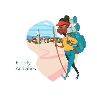 Persone anziane che conducono uno stile di vita attivo. gli anziani fanno sport.