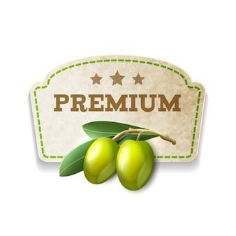 Distintivo cucina di oliva