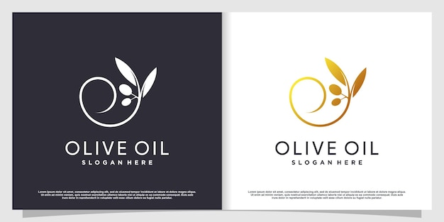 Logo oliva con elemento creativo moderno vettore premium parte 3