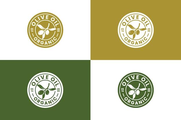 Olio d'oliva, salute, goccia d'olio, ispirazione per il design del logo