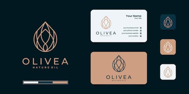 Logo di olio d'oliva e biglietto da visita