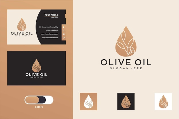 Logo e biglietto da visita dell'olio d'oliva