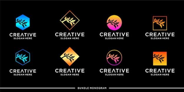 Modello di progettazione di logo di olio d'oliva