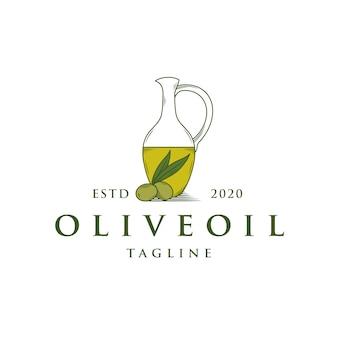 Modello di logo di olio d'oliva
