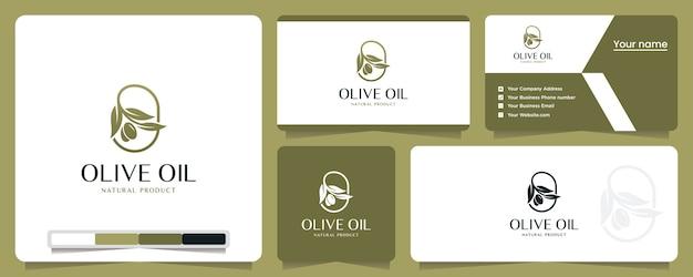 Olio d'oliva, natura, salute, ispirazione per il design del logo