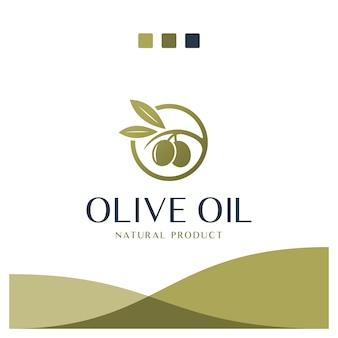 Olio d'oliva, natura, ispirazione per il design del logo