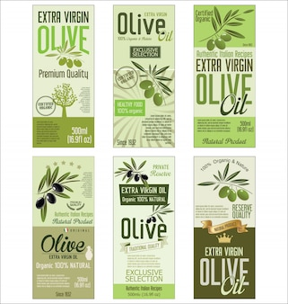 Retro raccolta verde della priorità bassa dell'olio d'oliva